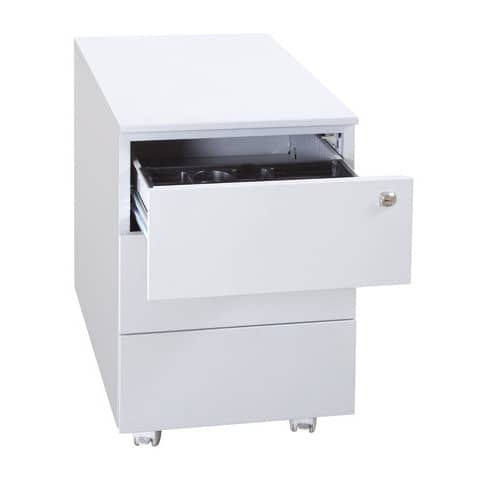 Cassettiera per cartelle sospese KUBO 3 cassetti su ruote 40x59x55 cm grigio 3903 G
