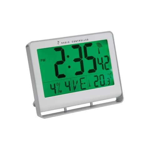 Orologio digitale da parete ALBA radiocontrollato LCD 20x3x15 cm Bianco HORLCDNEO