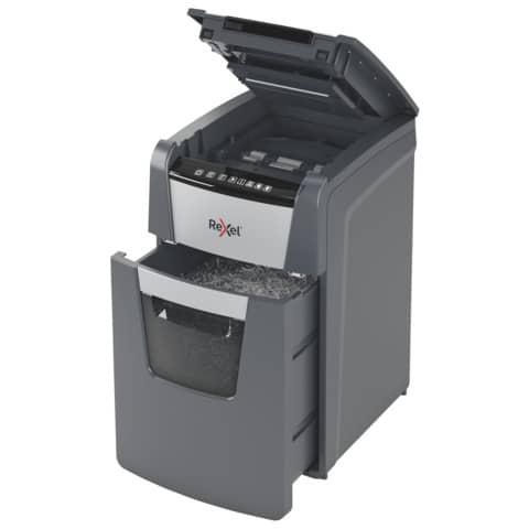 Distruggidocumenti Optimum AutoFeed+ 130X EU Rexel taglio a frammenti 4x28 mm DIN P-4 - nero 2020130XEU Immagine del prodotto Einzelbild 7 XL