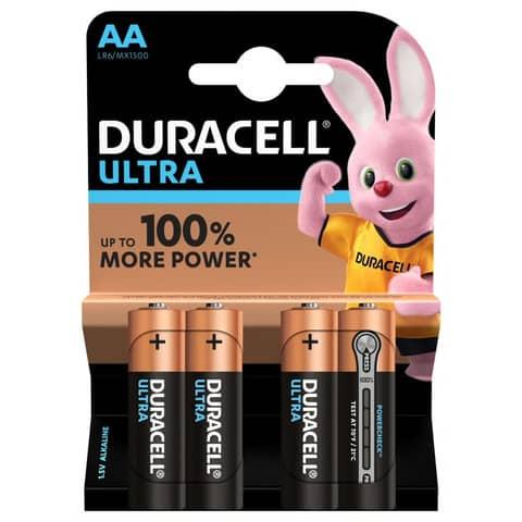 Pile Duracell Ultra Power Stilo AA conf. 4 pezzi - DU0020