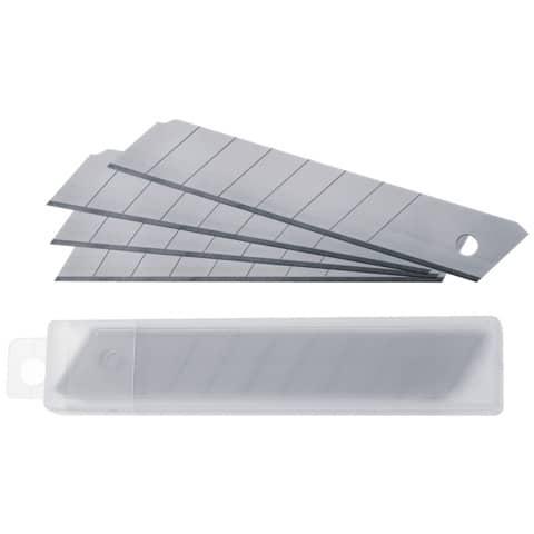 Lame di ricambio Westcott 18 mm argento  Conf. 10 pezzi - E-84008 00