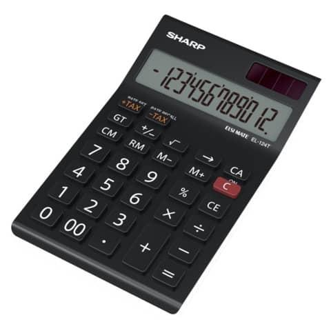 Tischrechner 12-stell. schwarz/weiß SHARP SH-EL124TWH Produktbild Einzelbild 2 XL