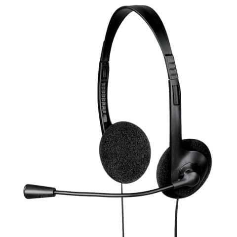 Cuffie stereo per PC Hama con microfono regolabile nero 53999