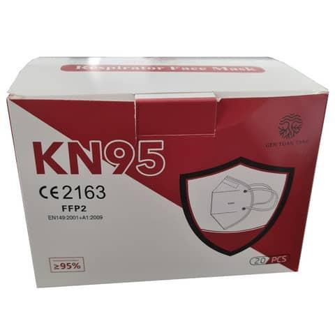 Mascherine monouso FFP2 - Certificazione CE 2163 in TNT bianco - scatola da 20 pezzi, singolarmente imbustati Immagine del prodotto Einzelbild 3 XL