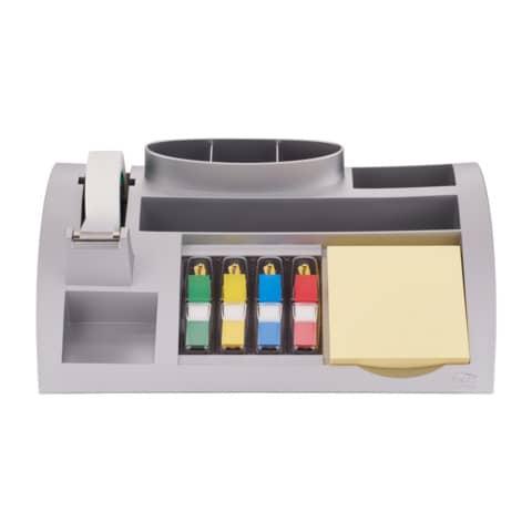 Post-it Schreibtisch Organizer silber bestückt