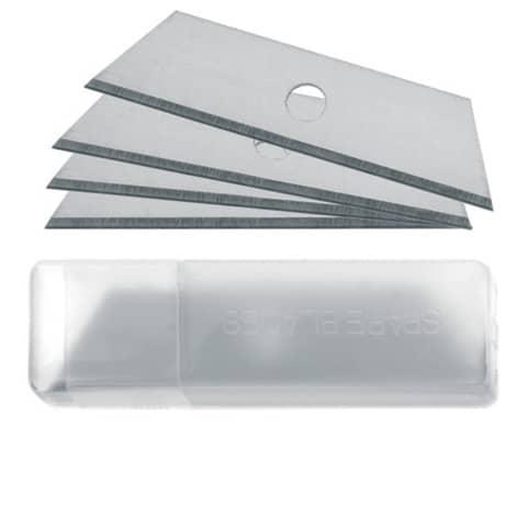 Lame di ricambio Westcott 18 mm forma trapezoidale argento Conf. 10 pezzi - E-84020 00