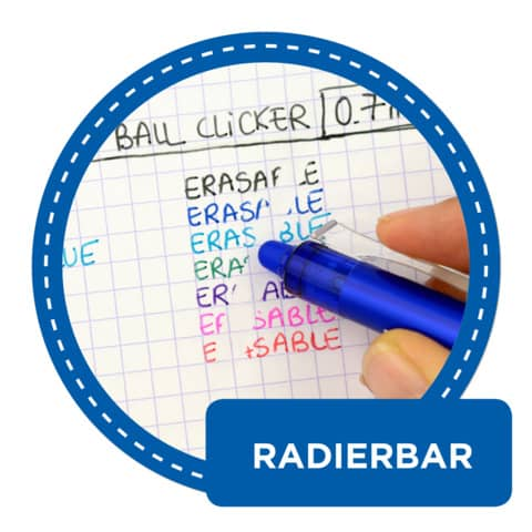 Penna a sfera cancellabile Pilot Frixion Ball Clicker 0,7 mm blu 006791 Immagine del prodotto Anwendungsdarstellung 2 XL