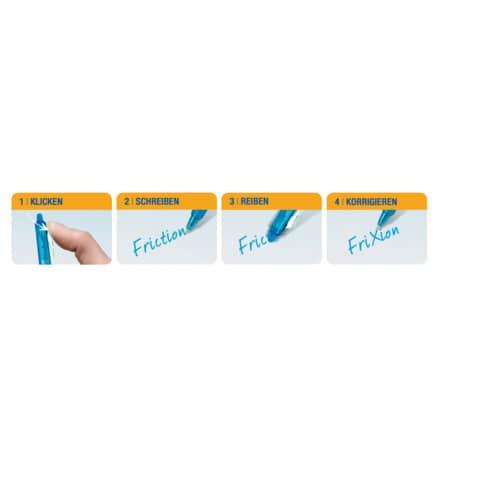 Penna a sfera cancellabile Pilot Frixion Ball Clicker 0,7 mm blu 006791 Immagine del prodotto Anwendungsdarstellung XL