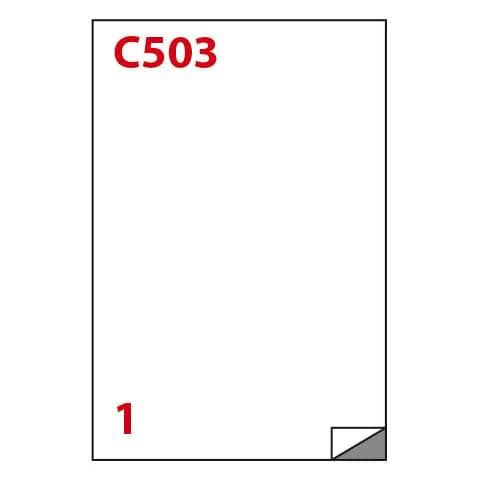 Etichette bianche MARKIN permanenti 210x297 mm senza margine conf. da 100 etichette - X210C503