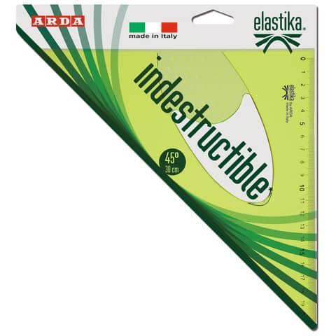 Squadra ARDA Linea Elastika plastica flessibile verde trasparente 45° cm 30 EL4530