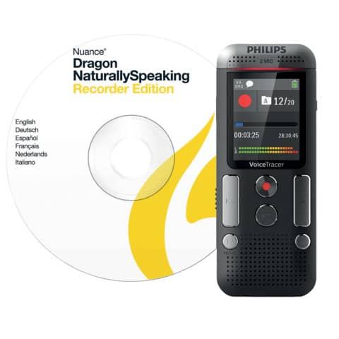 Registratore vocale digitale PHILIPS antracite DVT2710