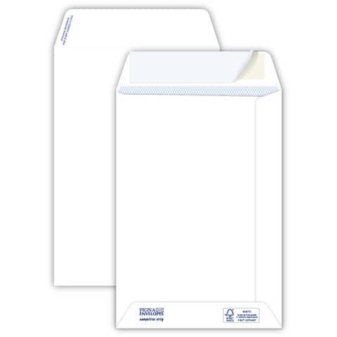 Buste a sacco bianche autoad. removibili Pigna Envelopes Competitor strip 100 g/m² 160x230 mm  conf. 500 pz - 0029516