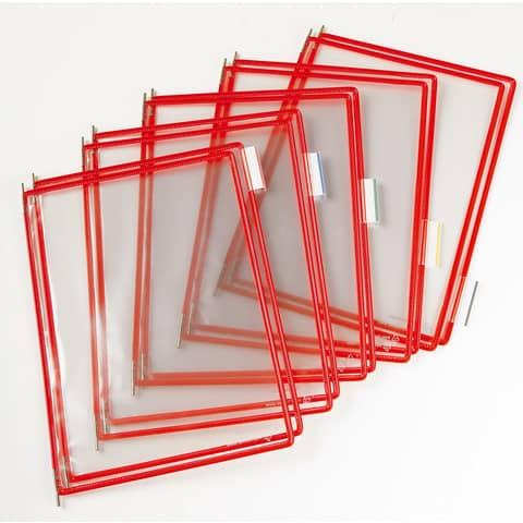 Buste per leggio Tarifold® T-Technic A4 rosso Conf. 10 pezzi - 114001