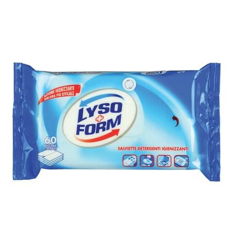 Salviettine igienizzanti profumo pulito Lysoform bianco Conf. 60 pezzi - H94275
