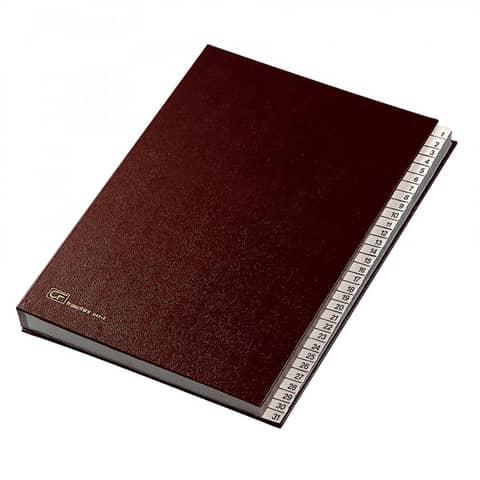 Classificatore numerico 1-31 FRASCHINI 24x34 cm in dermoide con dorso espandibile rosso - 643-E-DR