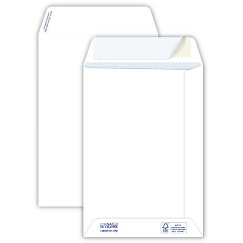 Buste a sacco bianche autoad. removibili Pigna Envelopes Competitor strip 80 g/m² 160x230 mm  conf. 500 - 0029463