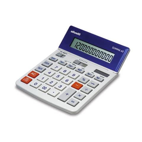 Calcolatrice da tavolo OLIVETTI Summa 60 con display LCD a 12 cifre bianco B9320 000