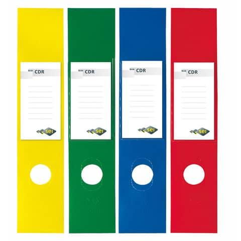 Copridorso autoadesivi Sei Rota CDR 7x34,5 cm giallo Conf. 10 pezzi - 58012536