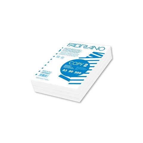 Carta per fotocopie Fabriano COPY 2 80 g/m² formato A5 Risma da 500 fogli - 19100027