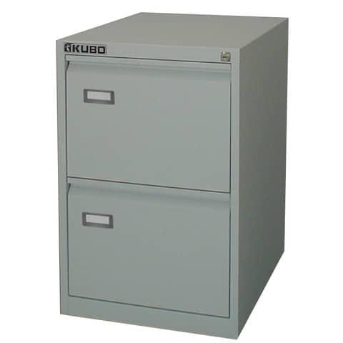 Classificatore per cartelle sospese KUBO 2 cassetti 46x62x70 cm grigio 4002