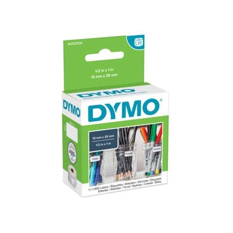 Rotolo da 1000 etichette Dymo LabelWriter multiuso 13x25 mm bianco S0722530