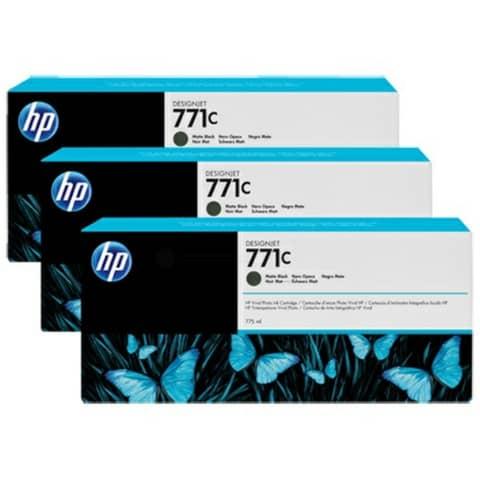cartucce inkjet 771C HP nero opaco  Conf. 3 - B6Y31A
