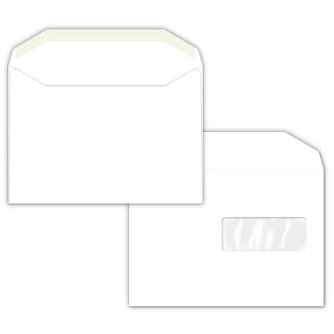 Buste con finestra Pigna Envelopes Matt D.Mail 162x229 mm bianco conf. 500 - 0221815