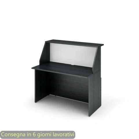Reception Artexport Musa 120x76x117 cm nero ven. frassino-bianco 2824-B12-83
