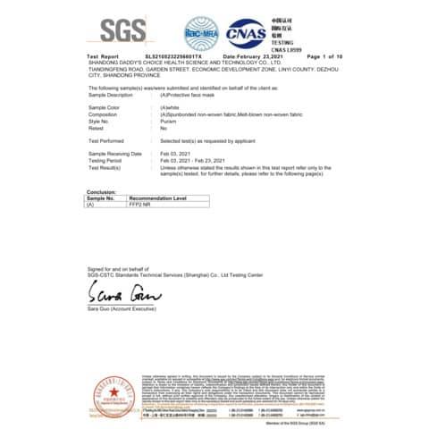 Mascherine monouso FFP2 bianche - Certificazione CE 0598 - Scatola da 20 pezzi, singolarmente imbustati Immagine del prodotto Produktdatenblatt XL