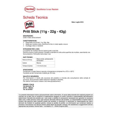 Colla stick Pritt 22 g Bianco  199986 Immagine del prodotto Produktdatenblatt XL