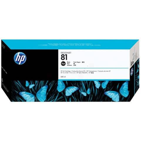 Cartuccia inkjet dye 81 HP nero standard C4930A