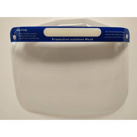 Visiera di protezione individuale in PET trasparente - lavabile e riutilizzabile - 32x22 cm - 470404 Immagine del prodotto