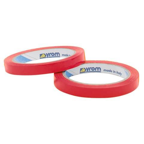 Nastro adesivo da imballo SYROM formato 12 mm x 66 m - materiale ppl rosso conf. da 12 - 3158