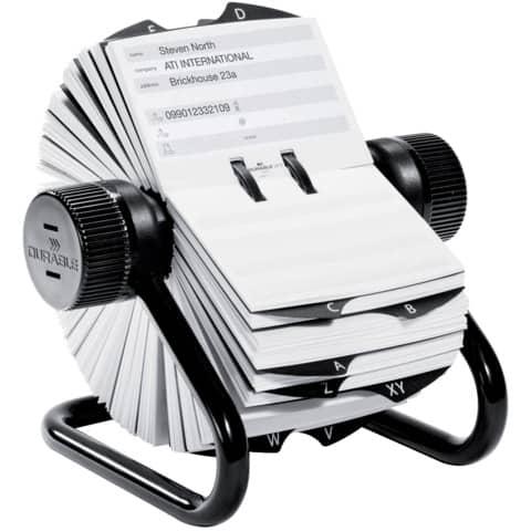 Rollkartei Visitenkarten schwarz Produktbild