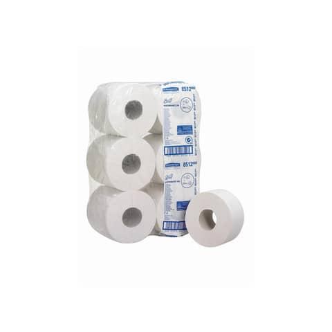 Carta igienica maxi SCOTT® PERFORMANCE in carta riciclata 200 strappi bianco 12 rotoli da 526 fogli - 8512