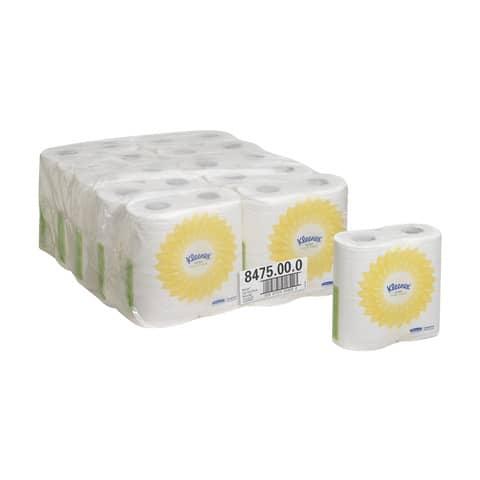 Carta igienica 2 veli KLEENEX® in carta a 2 veli bianco confezione da 4 rotoli - 8475