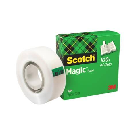 Nastro adesivo Scotch® Magic™ 810 19 mm x 33 m trasparente opaco 810-1933 Immagine del prodotto