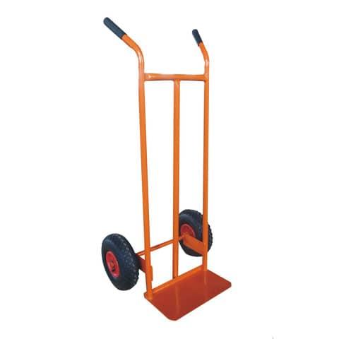 Carrello in acciaio Serena Group con doppio manico 47 x 47 x h. 120 cm arancione - HT198