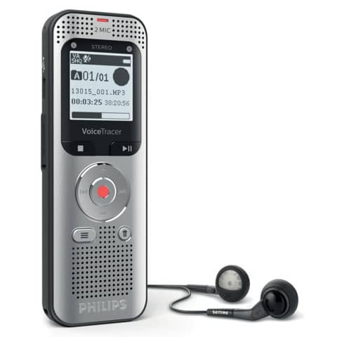 Registratore vocale digitale PHILIPS Voice Tracer 2050 argento DVT2050