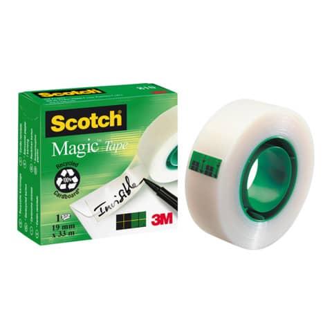Nastro adesivo Scotch® Magic™ 810 19 mm x 33 m trasparente opaco 810-1933 Immagine del prodotto Einzelbild 2 XL