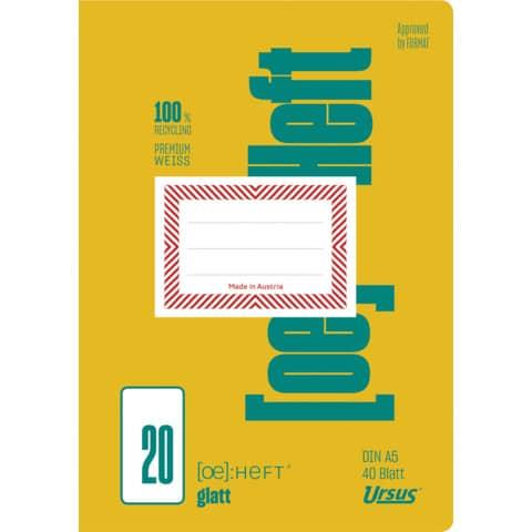 Heft A5 40BL glatt Produktbild