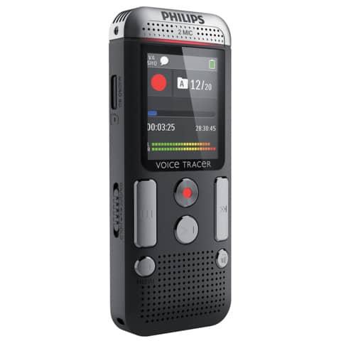 Registratore vocale digitale PHILIPS antracite DVT2510