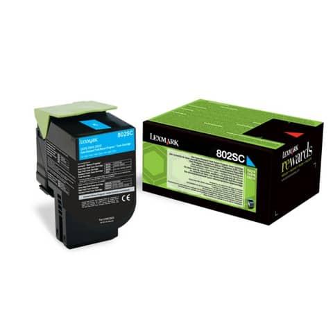 Toner standard return program 802SC Lexmark ciano 80C2SC0