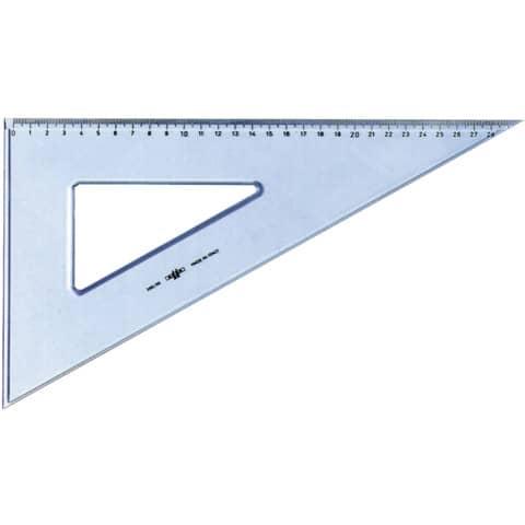 Squadra ARDA Linea Uni plastica termoresistente fumé ottico trasparente 60° cm 30 - 28830SS