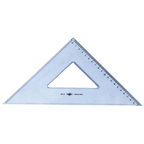 Squadra ARDA Linea Uni plastica termoresistente fumé ottico trasparente 45° cm 35 - 28735SS