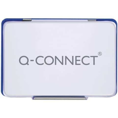 Cuscinetto per timbri Q-Connect 11x7 cm blu KF25209