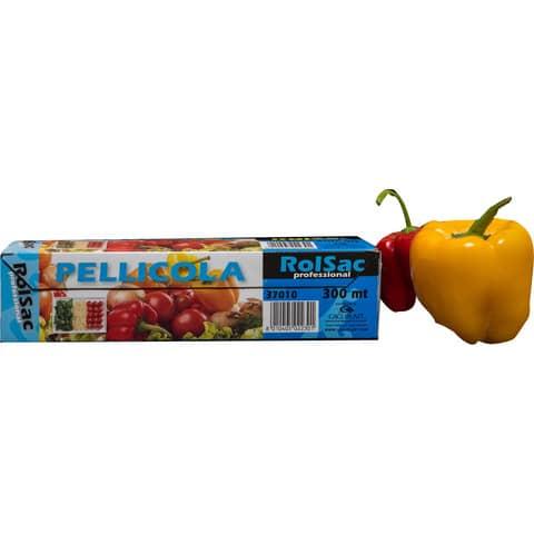 Rotolo pellicola per alimenti Rolsac Professional 300 m h 29 cm neutro trasparente - 37010