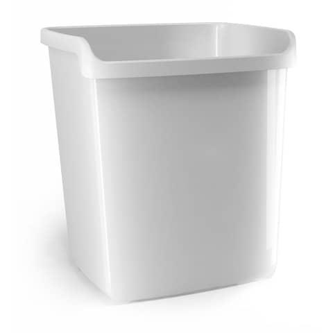 Cestino impilabile ARDA My desk 15 litri polipropilene bianco rettangolare 8116B