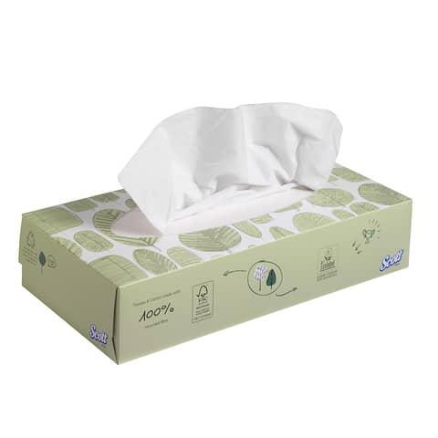 Veline facciali SCOTT® in carta a 2 veli bianco confezione da 100 fogli - 8837