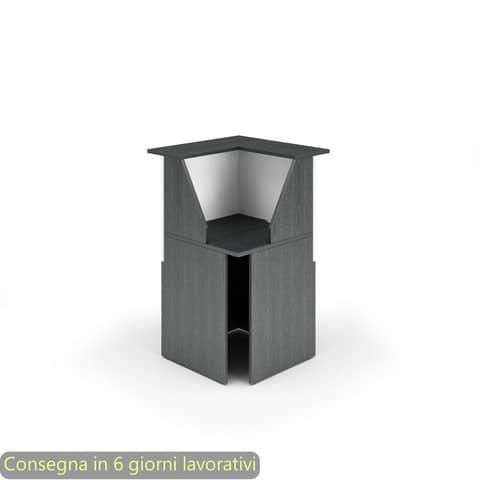 Reception Artexport Musa 76x76x117 angolare nero ven. frassino-bianco 2824-COR-83